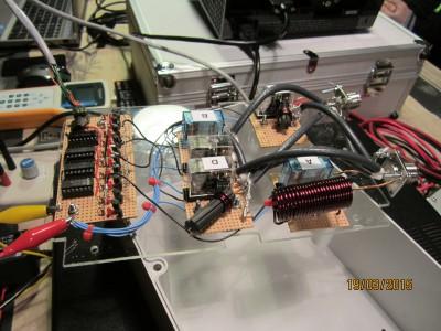 OZ1EDD Skiftelogik og impedanstilpasninger (Foto OZ8CTH)